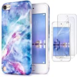 iPod Touch 7th Generation Case with 2 Screen Protectors, IDWELL iPod Touch 6 iPod 5 Case, Slim FIT Anti-Scratch Flexible Soft TPU Bumper Protective Case(Latest Model,2019 Release), Blue Fantasy Sky (Color: Blue fantasy sky)