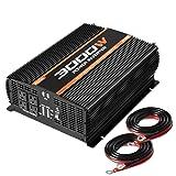 POTEK 3000W Power Inverter 4 AC Outlets 12V DC to 110V AC Car Inverter with 2 USB Port