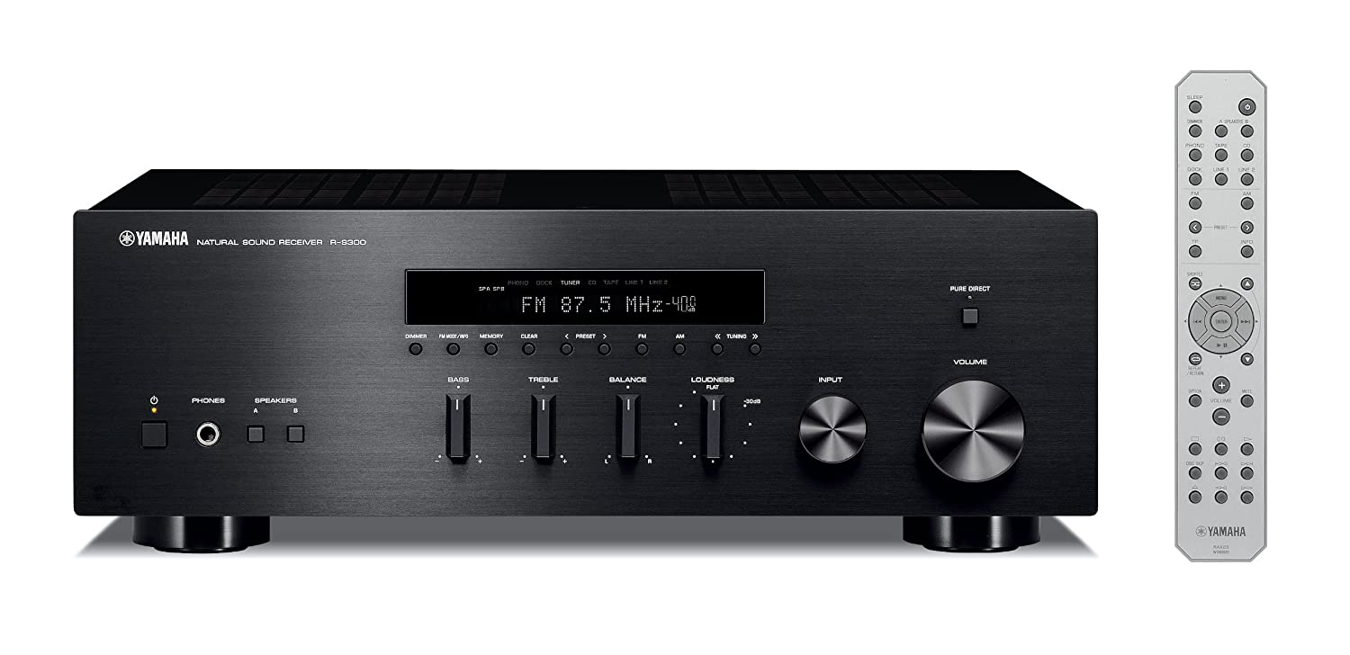 Yamaha R-S300BL Stereo Receiver (Black)