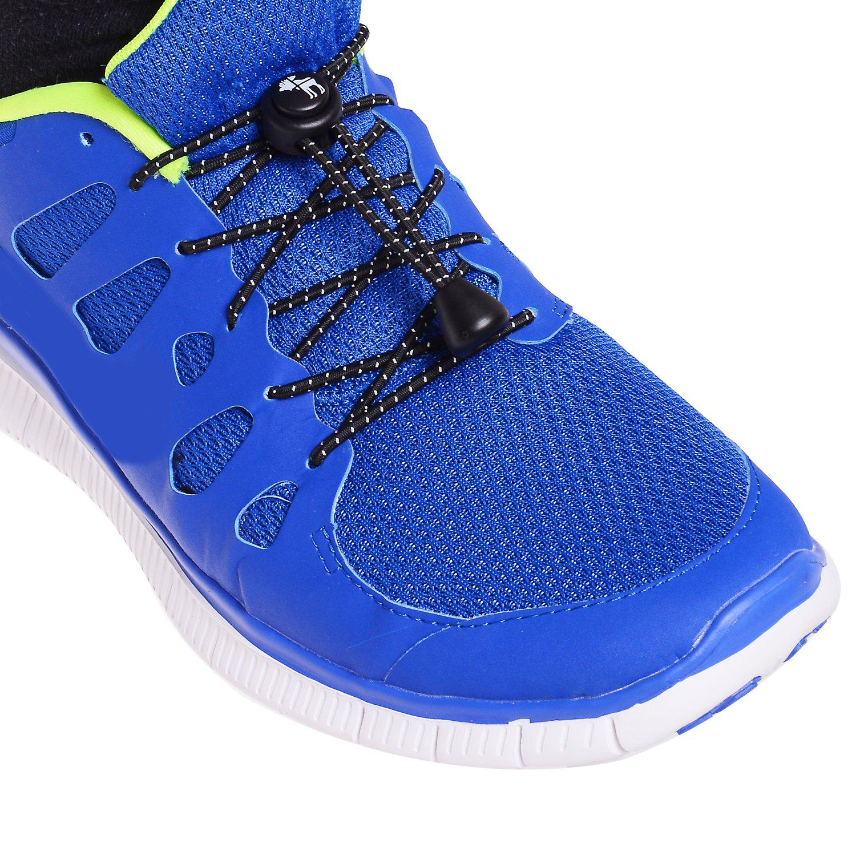 bi tie shoe laces, lock laces, fast laces, elastic lock laces