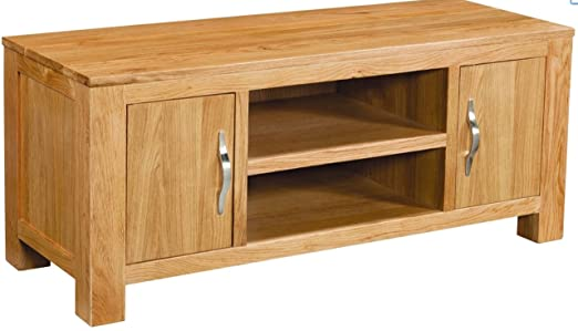 Winchester Solid Oak Large 2 Door TV Cabinet Fully Assembled