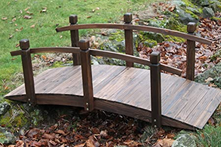Puente de madera para jardín - 1,5 metros de ancho