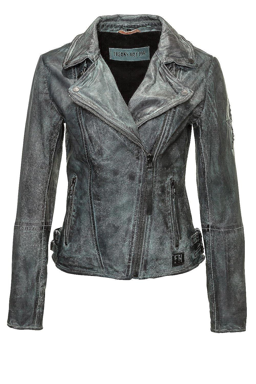 Freaky Nation Damen Lederjacke Biker Star Jacke FN20787 kaufen