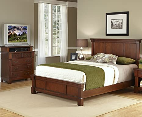 Home Styles 5520-6021 The Aspen Collection King Bed and Media Chest