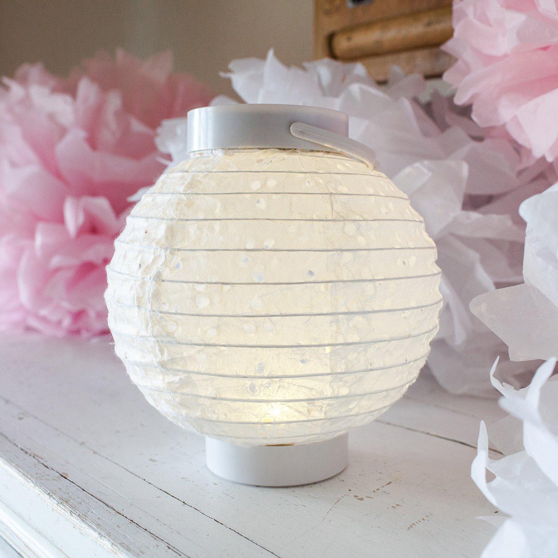 LED Lampion Bejing weiß Batteriebetrieb 16cm Lights4fun jetzt bestellen