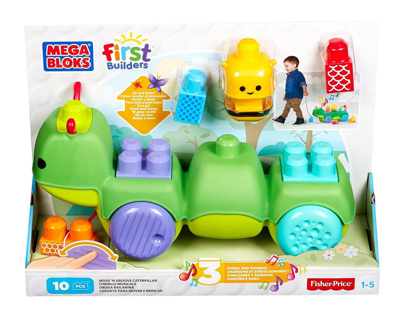 Mattel CNG22 – Mega Bloks First Builders -Bewegliche & Verschiebbare Raupe (10 Bausteine)[UK Import] jetzt bestellen