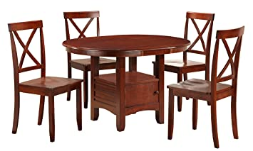 Boraam 21012 5-Piece Madison Dining Room Set, Cherry