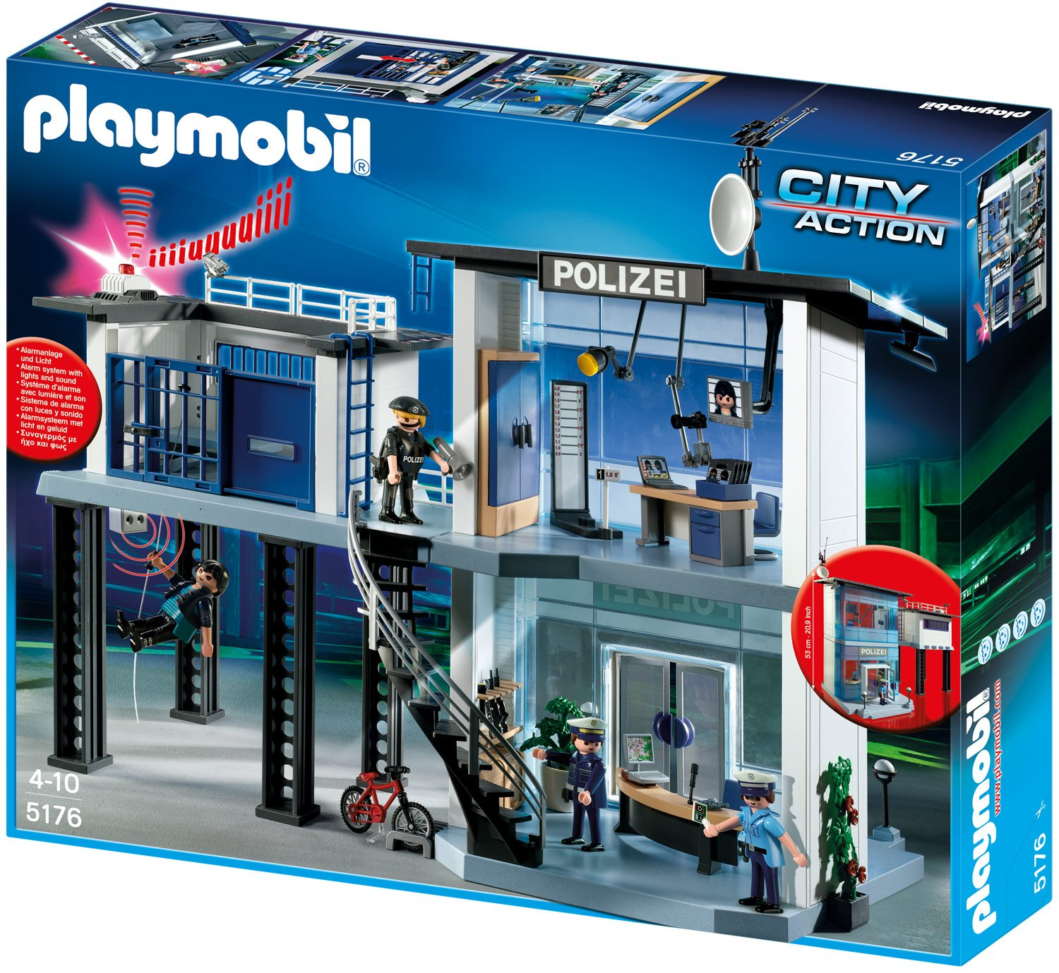 PLAYMOBIL® Polizei-Kommandostation mit Alarmanlage (5176)