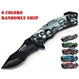 Unishow Walking Dead Zombie Knife with Artwork - Assort Colors, Color Randomly (Tamaño: pocket size)