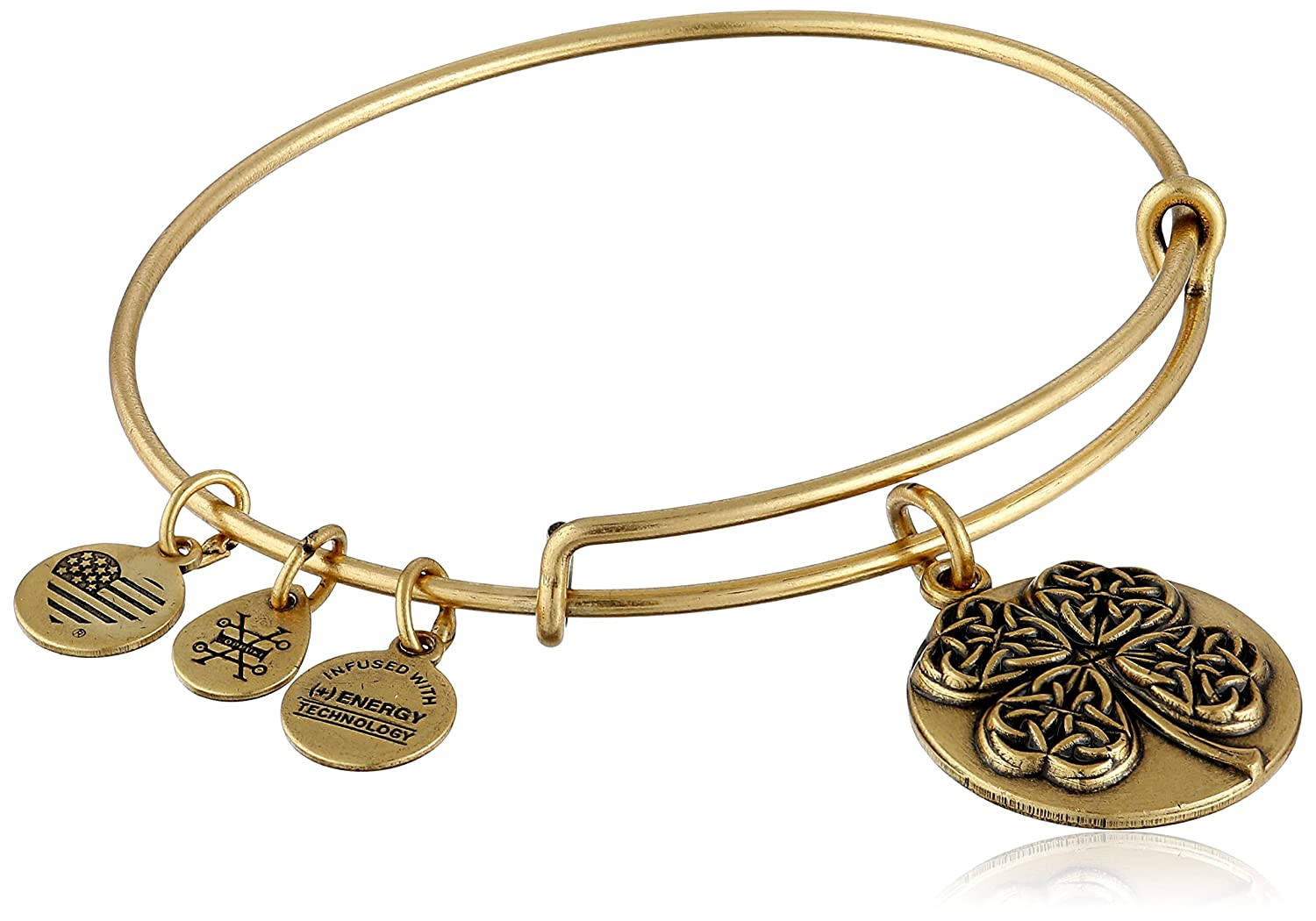 Alex and Ani Four Leaf Clover III EWB Rafaelian Bangle Bracelet
