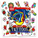 Set of 50 Temporary Tattoos, Classic (Color: Classic, Tamaño: 1-Pack)
