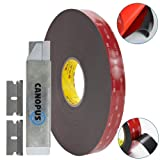 3M 5952 VHB Double Sided Tape - Heavy Duty Mounting Adhesive Tape Converted from 3M VHB, (0.125 in x 15 ft) with Box Cutter (1PC) and Razor Replacemen