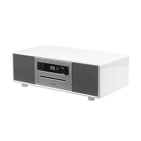 Sonoro sonoroSTEREO Système d'audio stéréo Bluetooth/CD/USB/FM/DAB+ Blanc