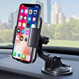 Bestrix Universal Dashboard & Windshield Car Phone Dash Mount Holder Compatible with iPhone 6/6S/7/8/X Plus 5S/5C/5 Samsung Galaxy S5/S6/S7/S8/S9 Edge/Plus/Note and All Smartphones up to 6.5