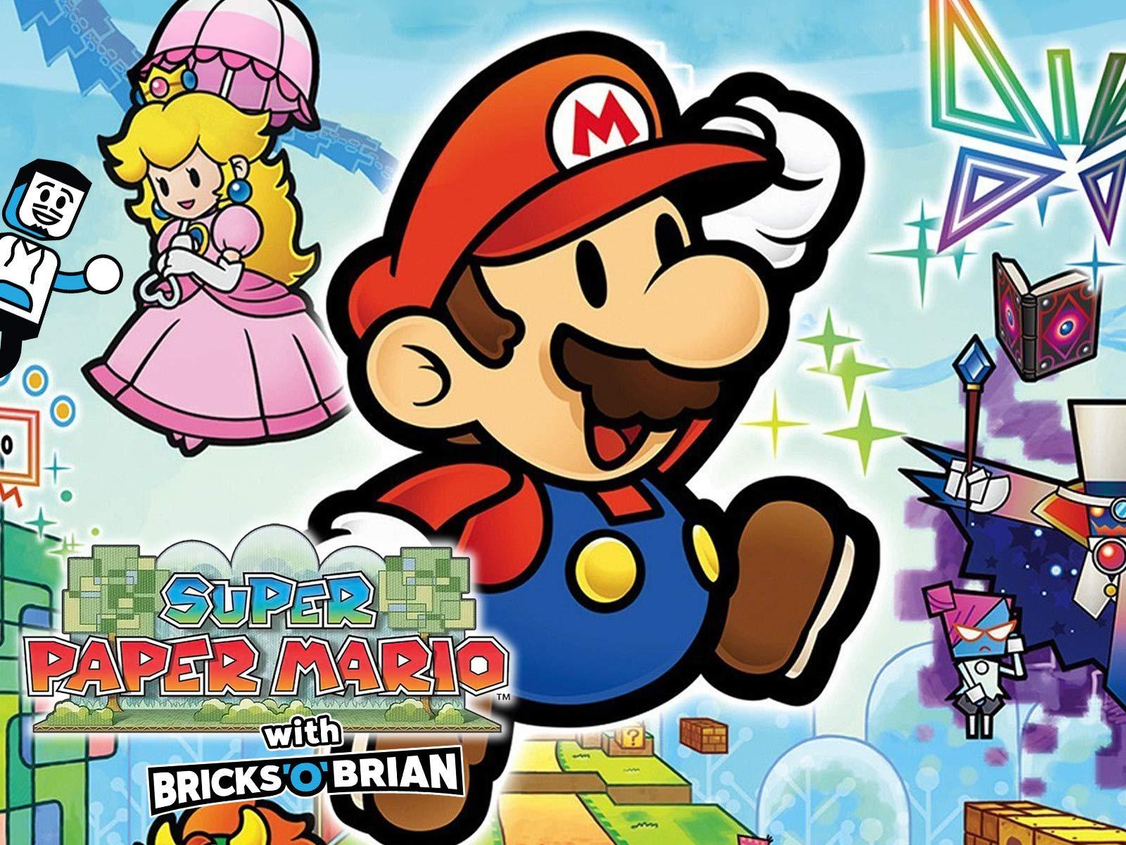 Clip: Super Paper Mario with Bricks 'O' Brian! - Season 1