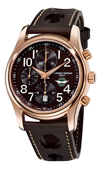 Frederique Constant Men's FC-392CH6B4 Healey automatic Brown Chronograph Dial Watch