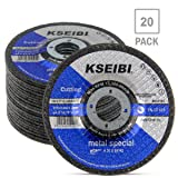 KSEIBI 645104 4-1/2-Inch by 1/8-Inch Metal Cutting and Grinding Disc Depressed Center Cut Off Grind Wheel, 7/8-Inch Arbor, 20-Pack (Tamaño: 4-1/2-Inch x 1/8-Inch x 7/8-Inch)