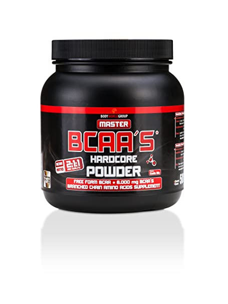 BWG Master BCAA's Hardcore Powder, Exotic Mix, Muscle Line, Dose mit Dosierlöffel, 1er Pack (1 x 500g)