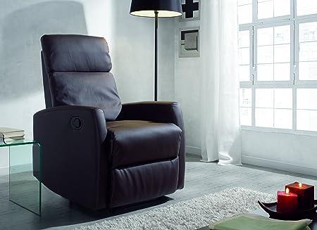 Sillon relax reclinable, color marrón due-home