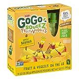 GoGo SqueeZ Fruit & VeggieZ on the Go, Apple Yellow Carrot Banana, 3.2 Ounce Portable BPA-Free Pouches, Gluten-Free, 4 Count