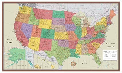 24x36 United States, USA Contemporary Elite Wall Map