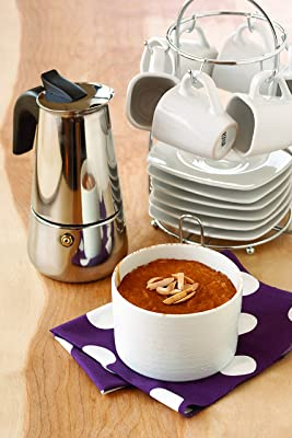 IMUSA USA Stainless Steel 4-Cup Coffeemaker Via Amazon