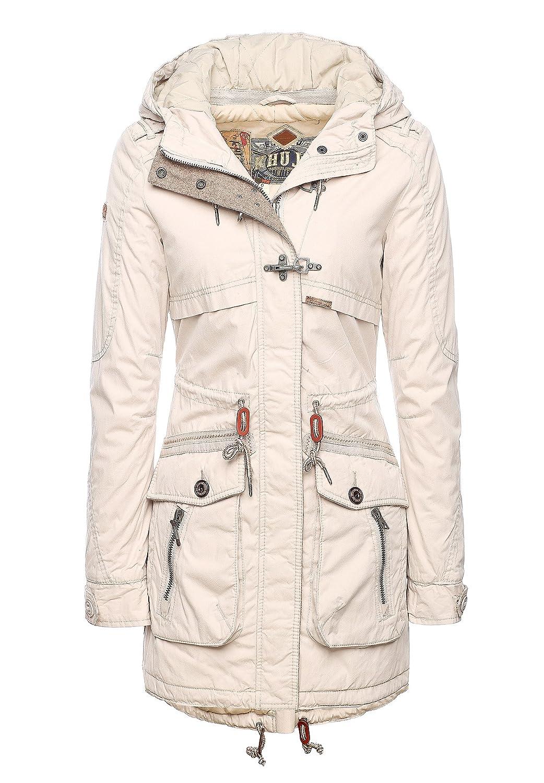 Khujo Devin Parka Mantel Winterjacke Ice dark Wihte Coat neue Kollektion Gr. kaufen