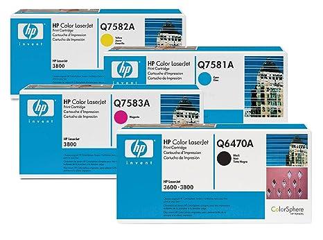 Hewlett Packard HP Original 501A/ 503A Toner 4er Set noir, cyan, magenta, jaune (Q6470A, Q7581A, Q7582A, Q7583A)