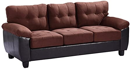 Glory Furniture G906A-S Living Room Sofa, Chocolate