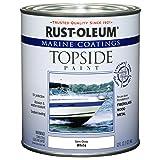 Rust-Oleum 207000 Marine Coatings Topside Paint, Quart, Semi-Gloss White (Color: Semi-Gloss White, Tamaño: 1 Quart)