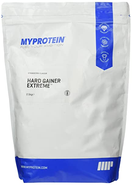 Myprotein Hard Gainer Extreme Strawberry, 1er Pack (1 x 2.5 kg)