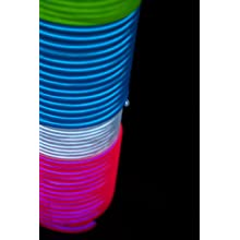 Fortune Products ELFW-3.2-2B Electroluminescent Flash Wire, 3.2mm Diameter x 2 yd Length, Blue