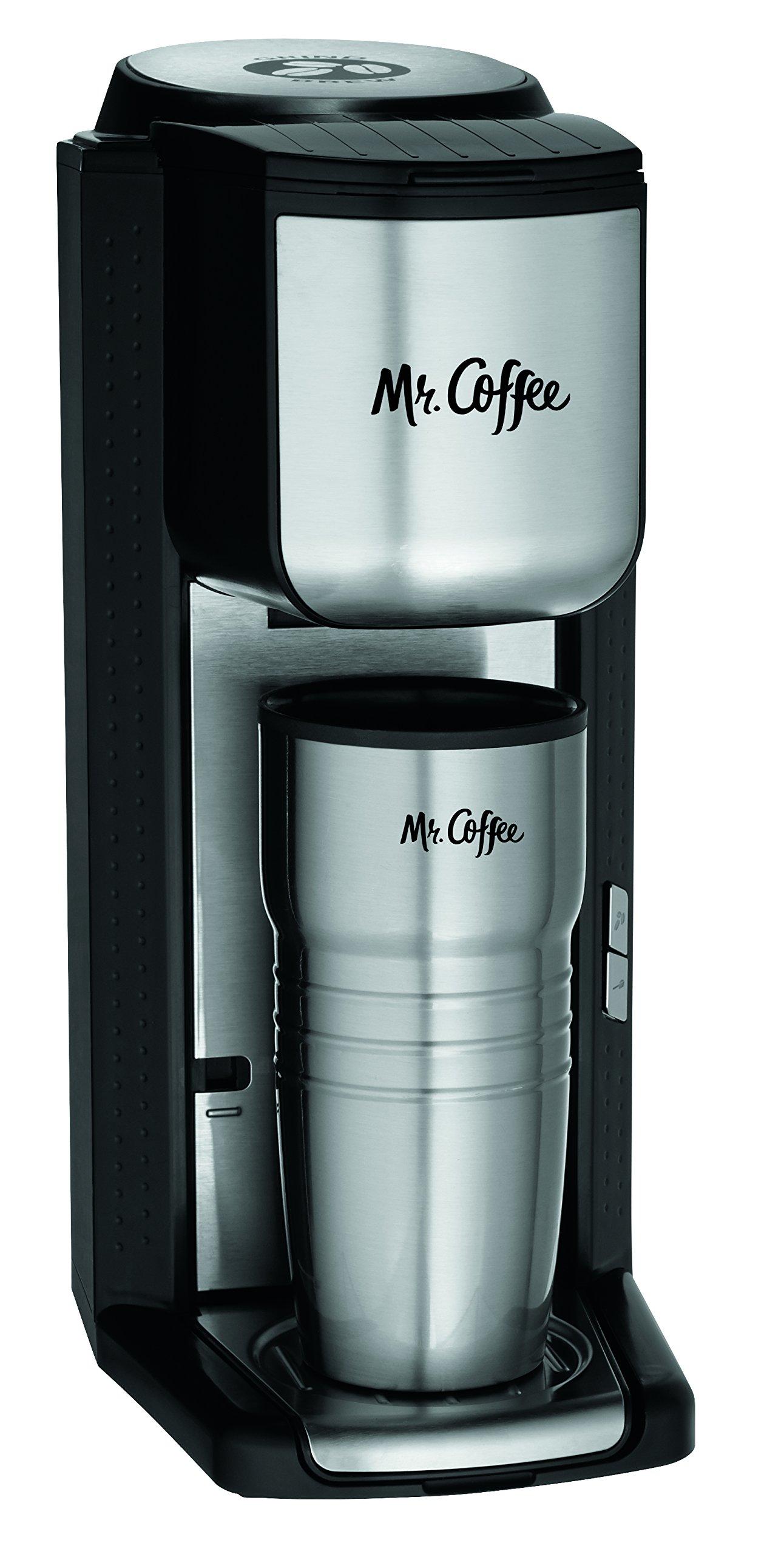 Mr Coffee Coffee Maker Plastic Taste : Mr. Coffee BVMC-SCGB200 Single Cup Coffeemaker with Built-In Grinder Black eBay