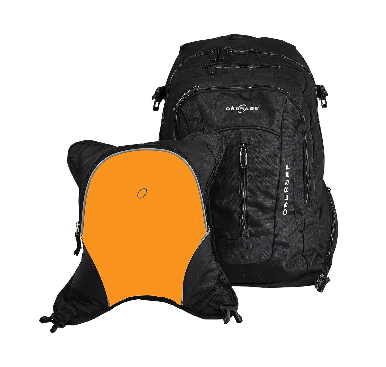 o3bbpca028 obersee bern unisex diaper bag backpack black orange ebay. Black Bedroom Furniture Sets. Home Design Ideas