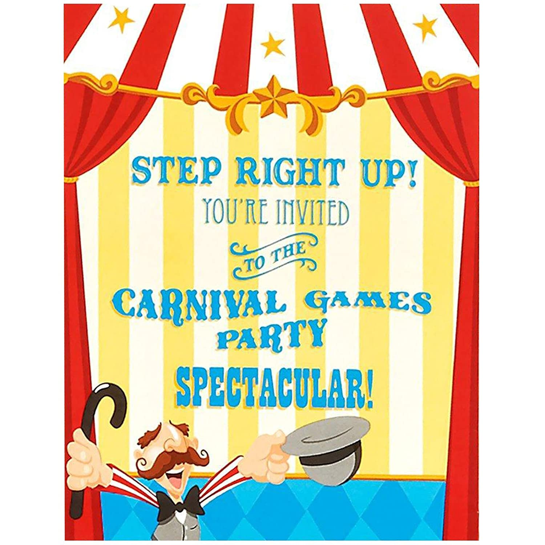 Circus Birthday Party Invitations | Birthday Wikii