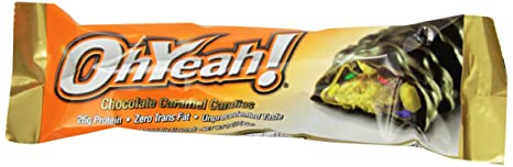 ISS Oh Yeah 85g Protein Riegel, 12x85g Riegel , Chocolate Caramel Candies