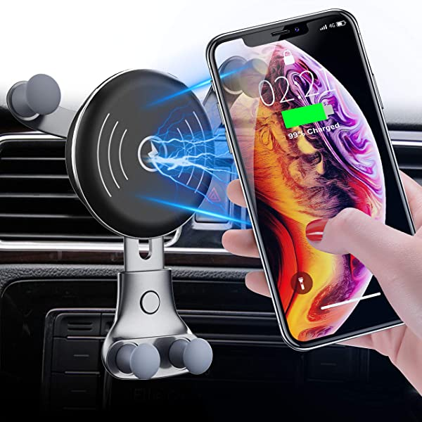 Dashboard /& Windshield Car Mount 7.5W Compatible for iPhone Xs Max//Xs//XR//X// 8//8 Plus Cell Phone Holder 10W Compatible for Samsung Galaxy S9//S9+//S8//S8+//Note 8 BESTHING 7.5W /& 10W Wireless Charger
