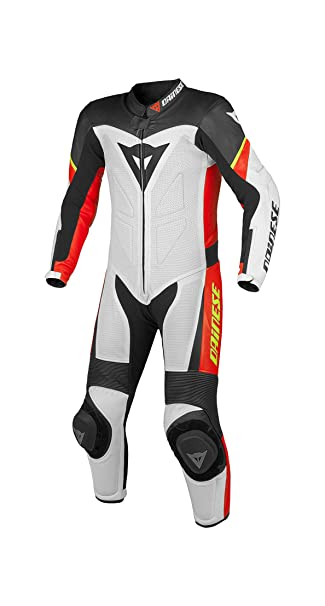 Dainese t. 1513394 en cuir youth p. estiva costume team blanc/noir/rouge