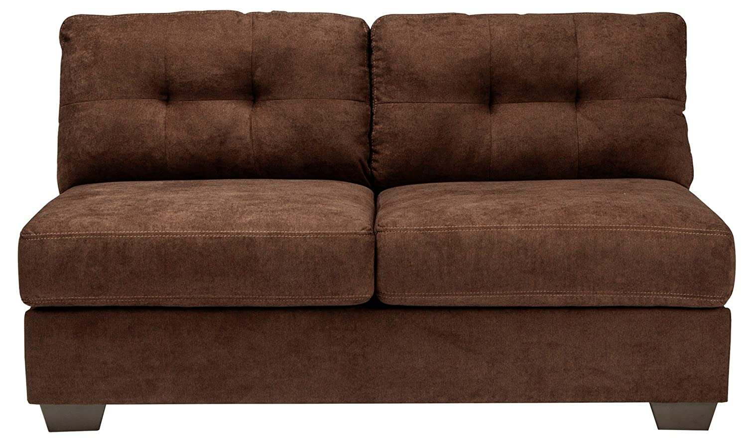 Ashley Delta City Armless Loveseat in Chocolate