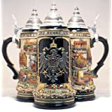 Deutschland Germany City with Pewter Eagle LE German Beer Stein 1L One New Mug