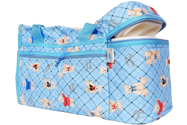 designer maternity bags 4m9l  Ole Baby Premium Teddy Diaper Bags With Warmer Cyan