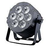 JMAZ LP76S - Crazy Par Hex 7 RGBWA+UV Aluminum Par Can Light for House DJ Stage Wedding Party Uplighting