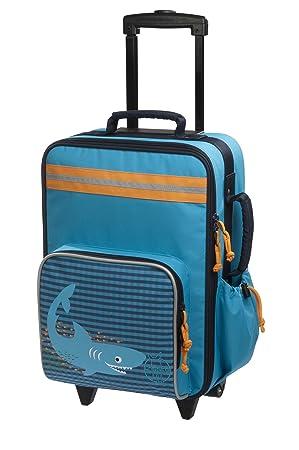 Lässig Valise à Roulettes Requin océan-bagage multifonctionnel pour enfants, grand compartiment intérieur isolé