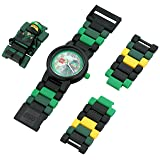 LEGO Ninjago Movie 8021100 Lloyd Kids Minifigure Link Buildable Watch | green/black| plastic | 28mm case diameter| analog quartz | boy girl | official