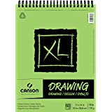 Canson XL Series Drawing Paper Pad, Micro Perforated, Smooth Surface, 70 Pound, 11 x 14 Inch, 60 Sheets (Color: 0, Tamaño: 11
