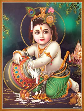 Amazon.com: Lord Krishna / Shree Krishna / Baby Krishna / Bal ...