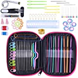 Crochet Hook Set 100pcs With Yarn Knitting Needles Sewing Tools Full Set Knit Gauge Scissors Stitch Holders DIY Craft Tools (Color: Style 1, Tamaño: 4Wx5L)