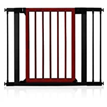 Munchkin Wood and Steel Designer Gate Dark Wood/Silver