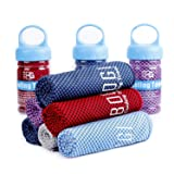 Bogi Cooling Towel For Instant Cooling - 40x12 - Use as Cooling Scarf Headband Wristband Bandana-Soft Cool Bamboo Fiber-Stay Cool for Yoga Travel Cl