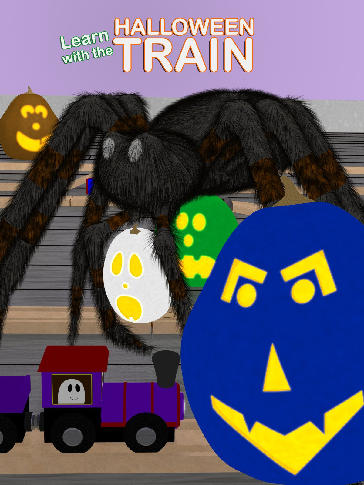 Learn with the Halloween Train
